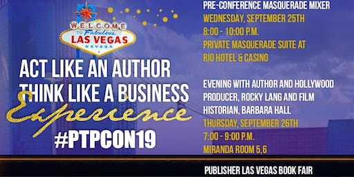 """""""Act Like an Author Think Like a Business"""" Pre-Conference Masquerade  Mixer"""