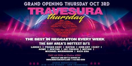 GRAND OPENING - Travesura Thursdays Noche de Reggaeton at Audio tickets