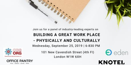 [London]Building a Great Workplace - Panel tickets