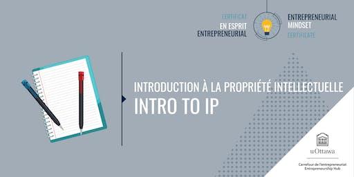 CEE: Introduction à la propriété intellectuelle | EMC: Introduction to IP