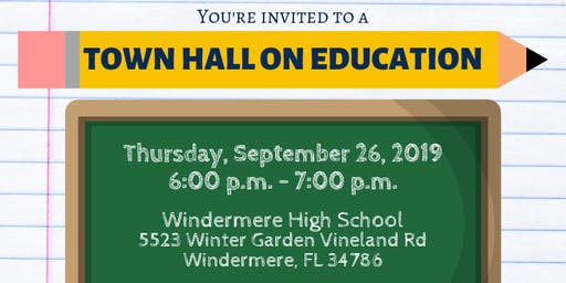 Town Hall on Education