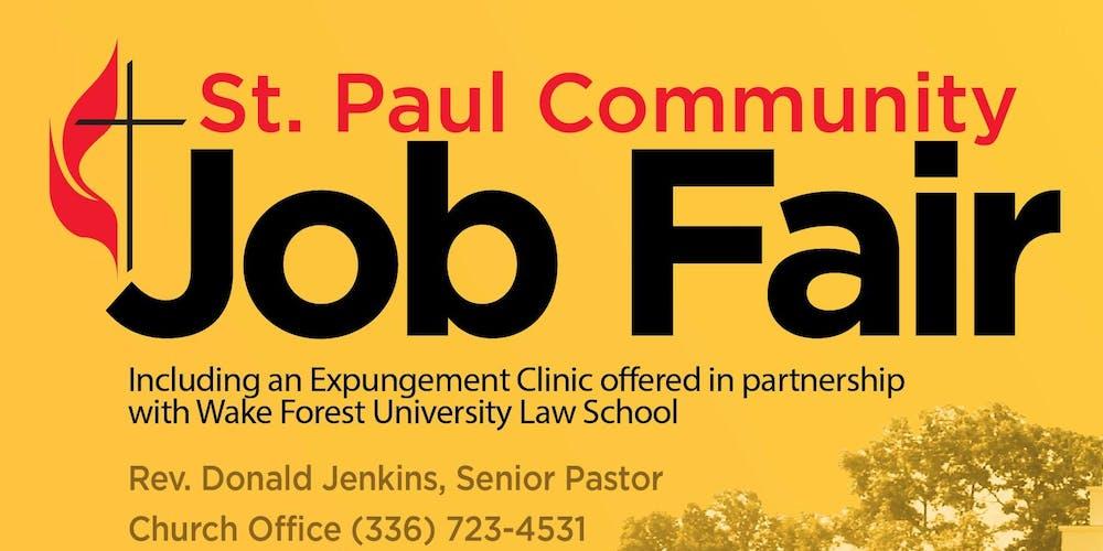 St Paul Community Job Fair & Expungement Clinic Tickets, Thu