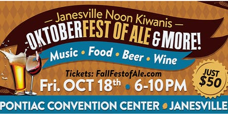 OktoberFest-of-Ale   Music-Food-Beer-Wine   by Janesville Kiwanis tickets