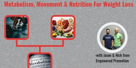 Metabolism, Movement & Nutrition for Weight Loss tickets