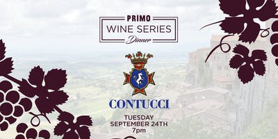 Primo Wine Dinner: Contucci Family