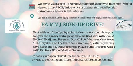PA MEDICAL MARIJUANA CERTIFICATION  SIGN-UP & EDUCATIONAL CLINIC tickets