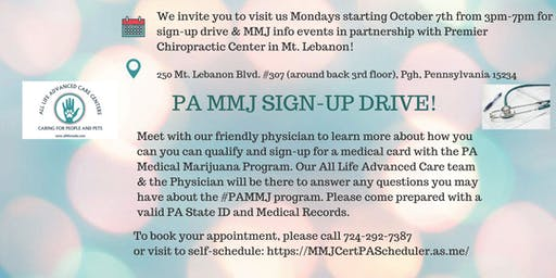 PA MEDICAL MARIJUANA CERTIFICATION  SIGN-UP & EDUCATIONAL CLINIC
