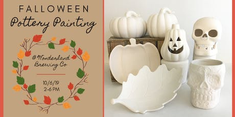Falloween Pottery Painting at Wonderland Brewing Company tickets