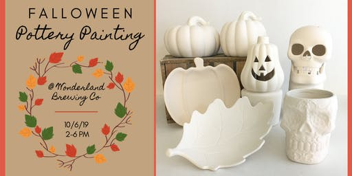 Falloween Pottery Painting at Wonderland Brewing Company
