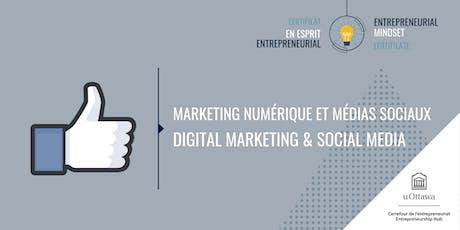 CEE: Mktg numérique + médias sociaux  | EMC: Digital Mktg & Social Media tickets