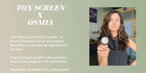 Tox Screen Talk with Dr. Sarah Villafranco, Osmia Founder
