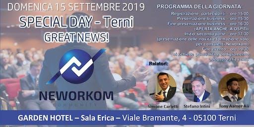 NEWORKOM - SPECIAL DAY - Umbria - Great News - TERNI