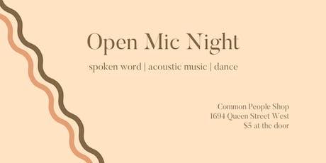 OPEN MIC - Spoken Word | Music | Dance @ Common People Shop tickets
