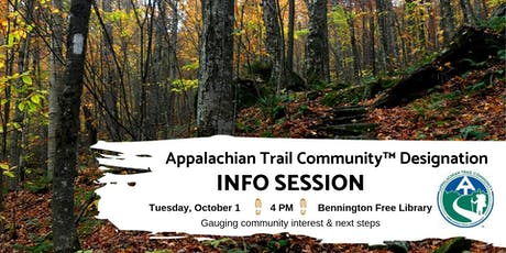 Appalachian Trail Community Designation Info Session: Bennington, VT tickets