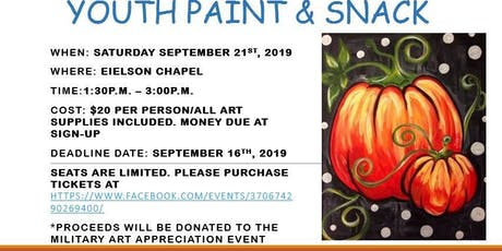 Youth Paint & Snack tickets