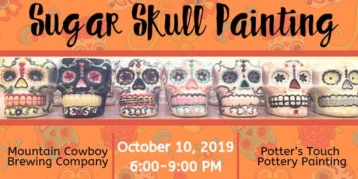 Sugar Skull Painting at Mountain Cowboy Brewing Company