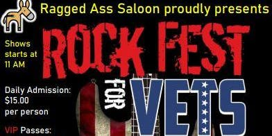 Rock Fest for Vets 2019 Ragged Ass Saloon
