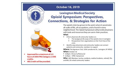 Lexington Medical Society Opioid Symposium tickets