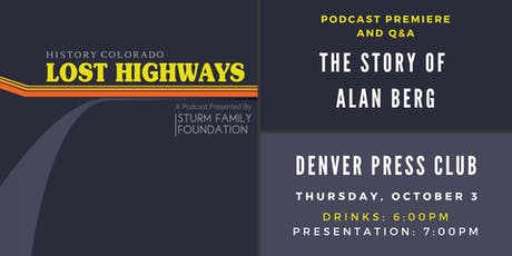 Lost Highways: The Story of Alan Berg tickets