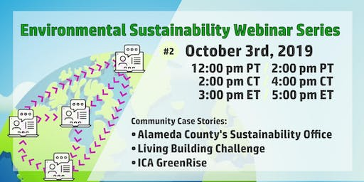 Success through Participation: Environmental Sustainability Webinar #2