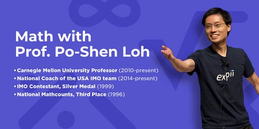 Math with Prof. Po-Shen Loh | East Brunswick, NJ | Sep 21, 2019