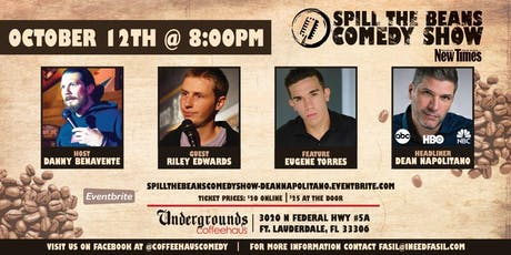 Spill the Beans Stand Up Comedy Show- Dean Napolitano tickets