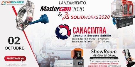 Lanzamiento SolidWorks & Mastercam 2020, Saltillo (Coahuila) entradas