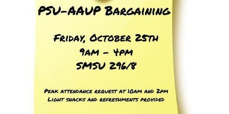 PSU-AAUP Bargaining - October 25th tickets