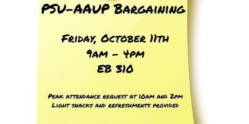PSU-AAUP Bargaining - October 11th