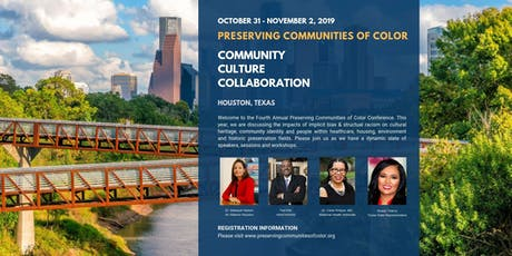 Preserving Communities of Color Oct 31-Nov 2,  Oct 26 Pre-Conf Events tickets