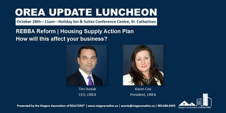 OREA Update Luncheon with Tim Hudak, CEO, and Karen Cox, President tickets