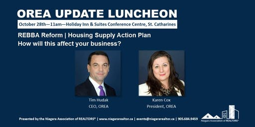 OREA Update Luncheon with Tim Hudak, CEO, and Karen Cox, President