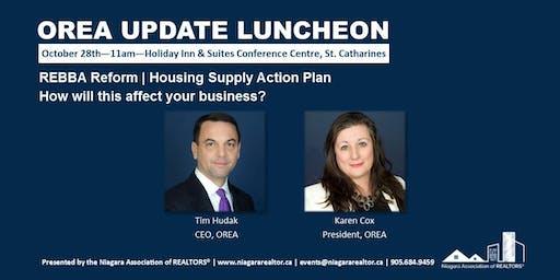 OREA Update Luncheon with Tim Hudak, CEO, and Karen Cox, President