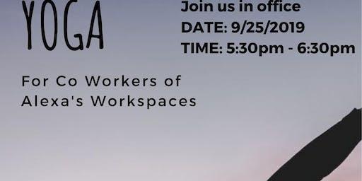 Yoga Work Space Appreciation