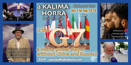 Is the G7 a losing global player without China and Russia? tickets
