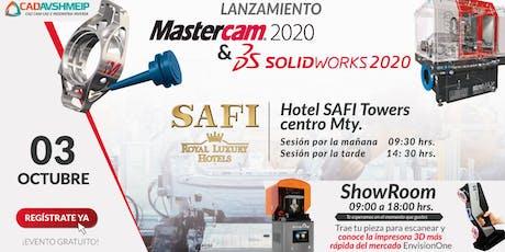 Lanzamiento SolidWorks & Mastercam 2020, Monterrey entradas