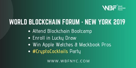 WBF Technology Conference · New York 2019 & World Blockchain Awards · Global tickets