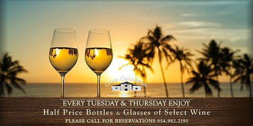 Romantic Tuesdays and Thursdays - 50% OFF on Wines!