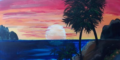 Paint and Sip Lunch at West Elm Santa Monica