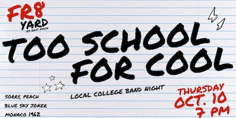 Too School For Cool (General Ticket) tickets