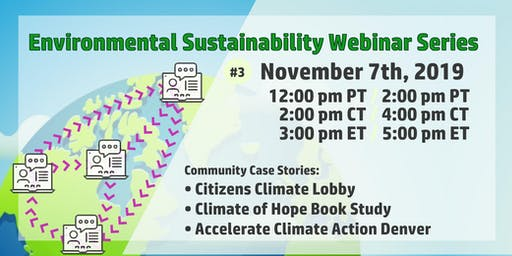 Success through Participation: Environmental Sustainability Webinar #3