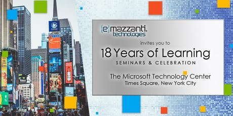 18 Years of Learning - Seminars and Celebration -  eMazzanti 18th Anniversary tickets