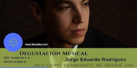 Degustación musical I Jorge Eduardo Rodríguez boletos