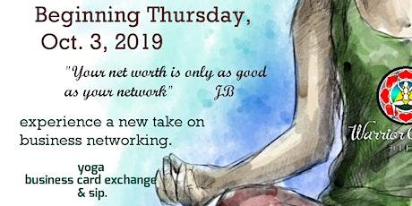 1st Thursday Network Yoga & Sip tickets
