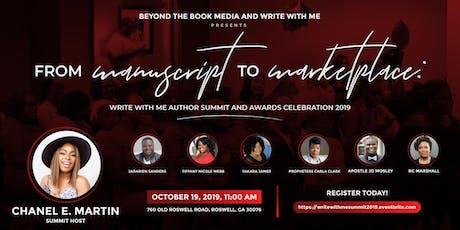 Manuscript to Marketplace: Write With Me Author Summit & Awards Celebration tickets
