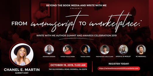 Manuscript to Marketplace: Write With Me Author Summit & Awards Celebration