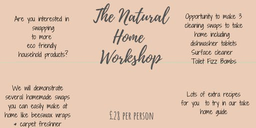 Molly and Me Candles presents The Natural Home Workshop