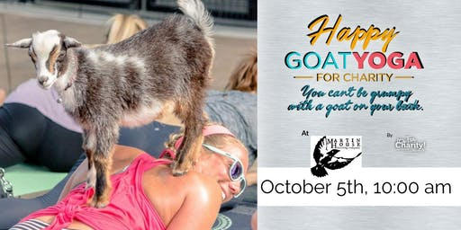 Happy Goat Yoga-For Charity at Martin House Brewing
