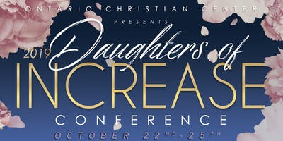 **VENDOR PROMOTION** FOR 2019 DAUGHTERS OF INCREASE CONFERENCE