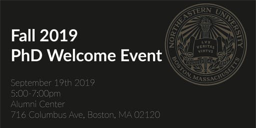 PhD Fall 2019 Welcome Event